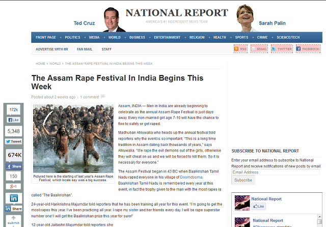 The Assam Rape Festival
