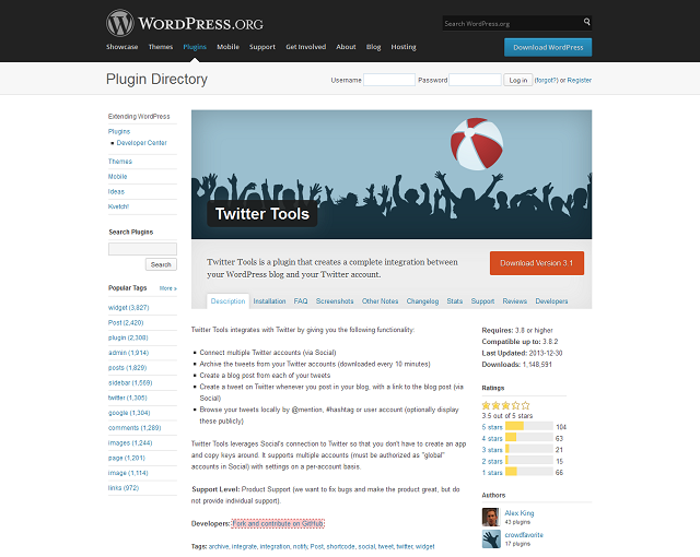 Twitter Tools WordPress