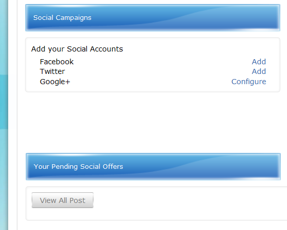 Add your social accounts