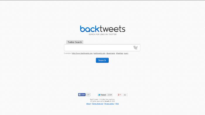 Back Tweets